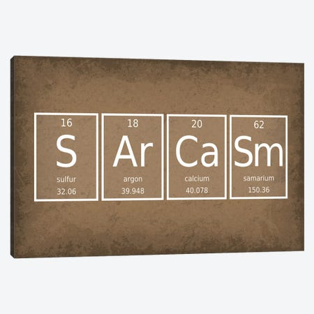 Sarcasm Canvas Print #GYO59} by GetYourNerdOn Canvas Art