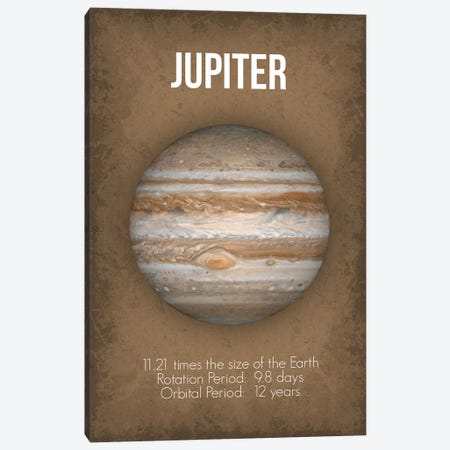 Jupiter Canvas Print #GYO5} by GetYourNerdOn Art Print