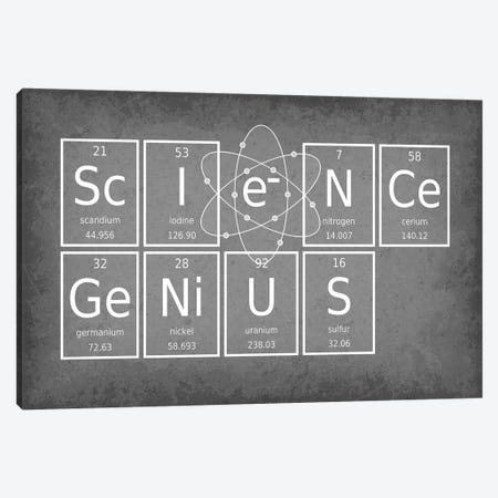 Science Genius Canvas Print #GYO60} by GetYourNerdOn Canvas Art Print
