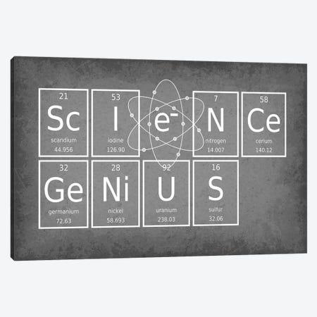 Science Genius 3-Piece Canvas #GYO60} by GetYourNerdOn Canvas Art Print