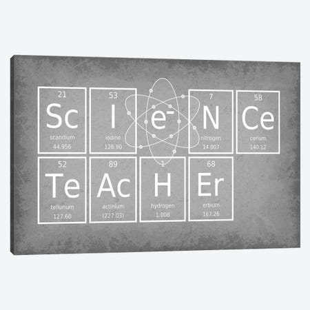 Science Teacher Canvas Print #GYO61} by GetYourNerdOn Canvas Art Print