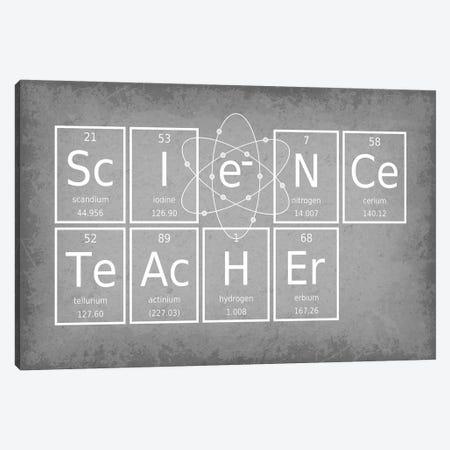 Science Teacher 3-Piece Canvas #GYO61} by GetYourNerdOn Canvas Art Print