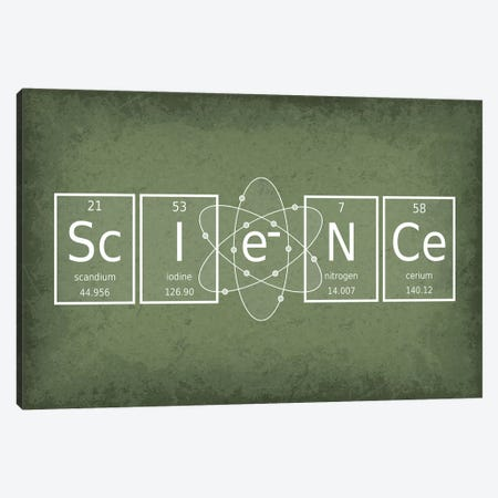 Science Canvas Print #GYO62} by GetYourNerdOn Canvas Art Print