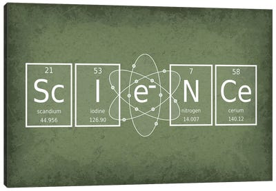 Science Canvas Art Print