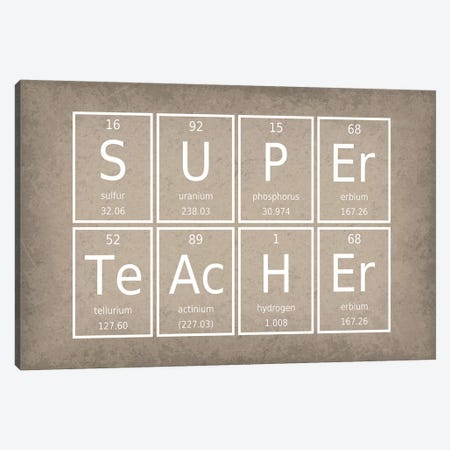 Super Teacher Canvas Print #GYO63} by GetYourNerdOn Canvas Print