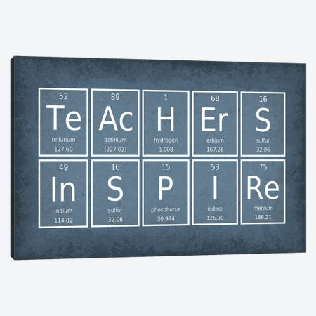 Teachers Inspire Canvas Print #GYO66} by GetYourNerdOn Canvas Wall Art