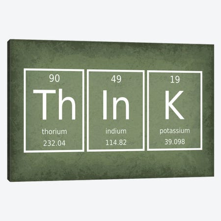 Think Canvas Print #GYO67} by GetYourNerdOn Canvas Wall Art