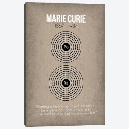 Marie Curie Canvas Print #GYO70} by GetYourNerdOn Canvas Art