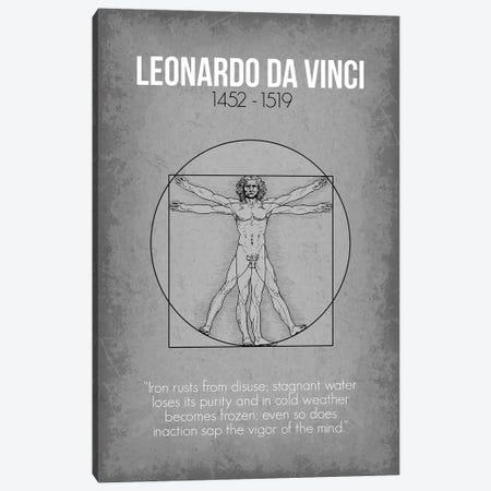 Leonardo da Vinci Canvas Print #GYO71} by GetYourNerdOn Canvas Art