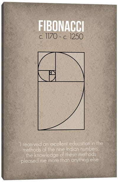 Fibonacci Canvas Art Print