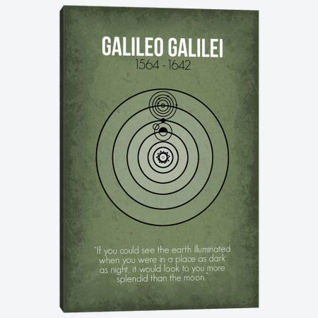 Galileo Galilei Canvas Print #GYO75} by GetYourNerdOn Canvas Art Print