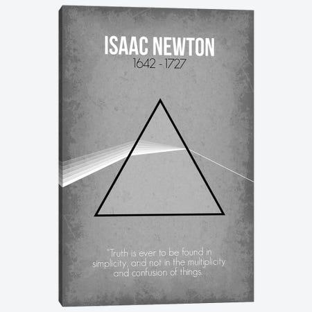 Isaac Newton Canvas Print #GYO76} by GetYourNerdOn Canvas Print