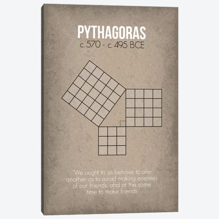 Pythagoras Canvas Print #GYO77} by GetYourNerdOn Canvas Print