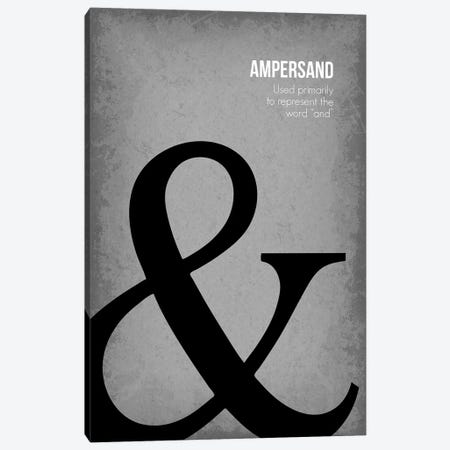 Ampersand Canvas Print #GYO79} by GetYourNerdOn Canvas Art