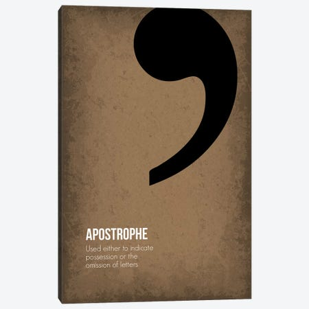 Apostrophe Canvas Print #GYO80} by GetYourNerdOn Canvas Print