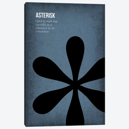 Asterisk Canvas Print #GYO81} by GetYourNerdOn Canvas Art Print