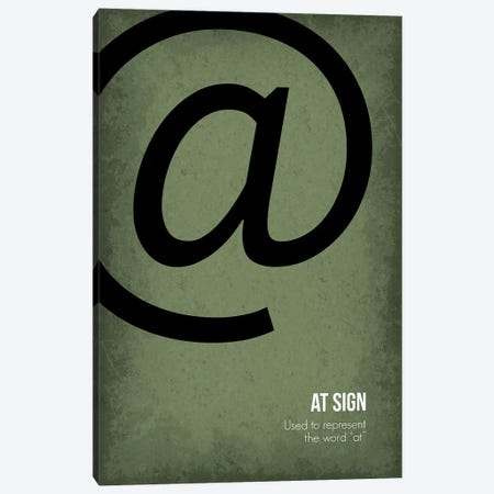At Sign Canvas Print #GYO82} by GetYourNerdOn Canvas Print