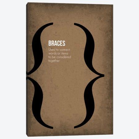 Braces Canvas Print #GYO83} by GetYourNerdOn Art Print