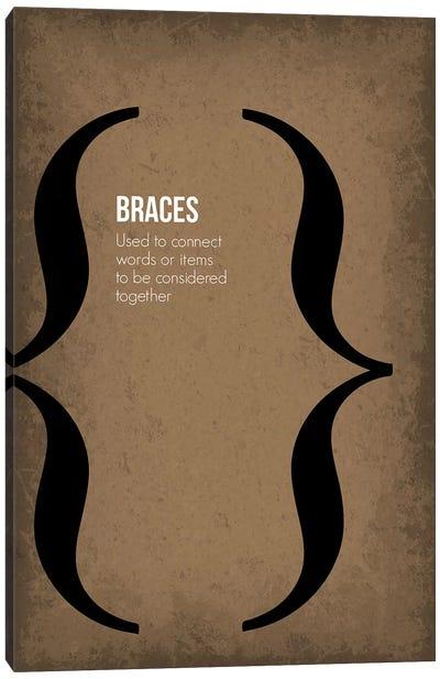Braces Canvas Art Print