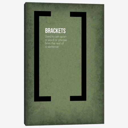 Brackets Canvas Print #GYO84} by GetYourNerdOn Canvas Artwork