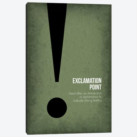 Exclamation Point Canvas Print #GYO89} by GetYourNerdOn Art Print