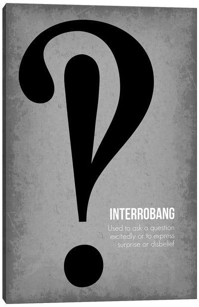 Interrobang Canvas Art Print