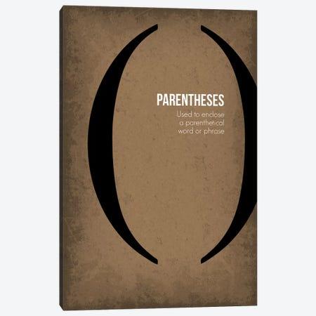 Parentheses Canvas Print #GYO91} by GetYourNerdOn Canvas Artwork