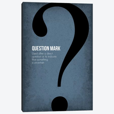 Question Mark Canvas Print #GYO95} by GetYourNerdOn Canvas Art Print