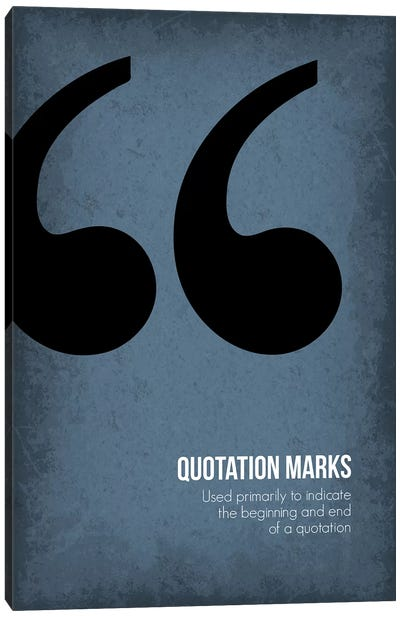 Quotation Marks Canvas Art Print