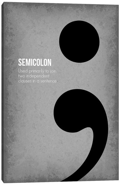 Semicolon Canvas Art Print