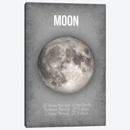 Moon Canvas Print #GYO9} by GetYourNerdOn Canvas Wall Art