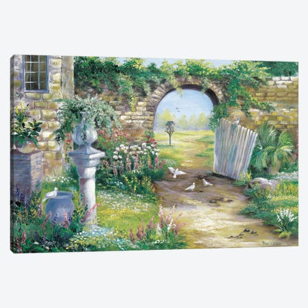A Garden Gone Wild Canvas Print #HAA1} by Rian Withaar Canvas Artwork