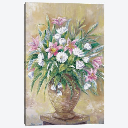 Fragrant Flowers Canvas Print #HAA5} by Rian Withaar Art Print