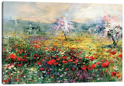 Between The Poppies Canvas Art Print
