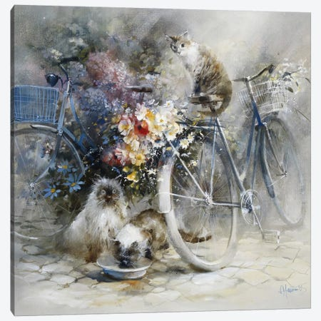 Bicycle Race Canvas Print #HAE102} by Willem Haenraets Canvas Print