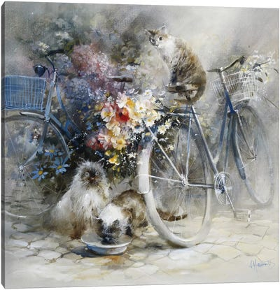Bicycle Race Canvas Art Print