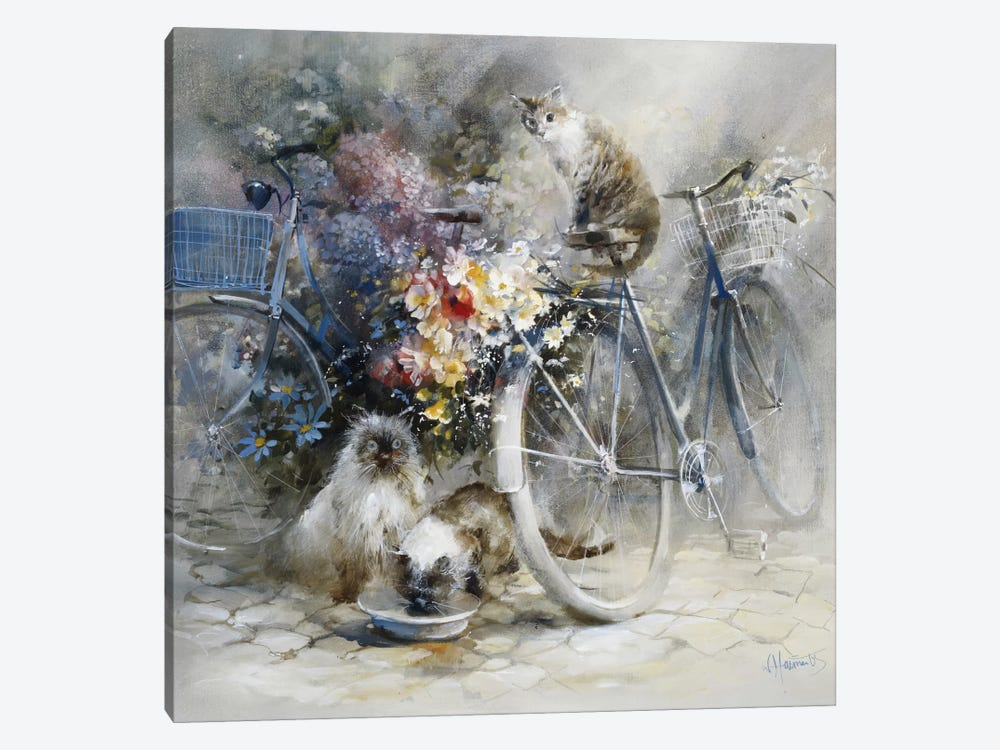 Bicycle Race by Willem Haenraets 1-piece Canvas Wall Art