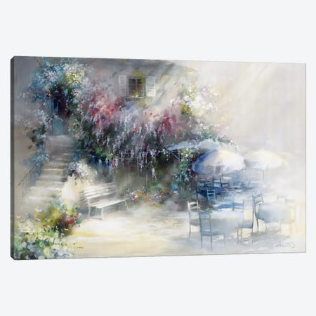 Blue Garden Canvas Print #HAE104} by Willem Haenraets Canvas Artwork