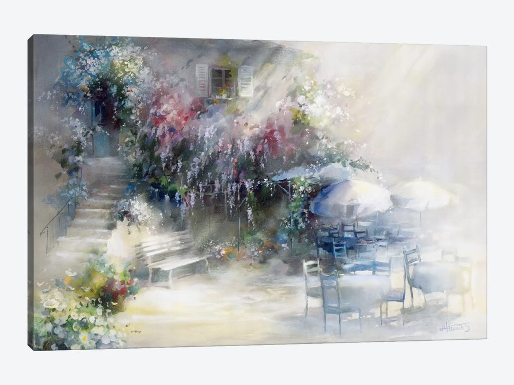Blue Garden by Willem Haenraets 1-piece Canvas Wall Art