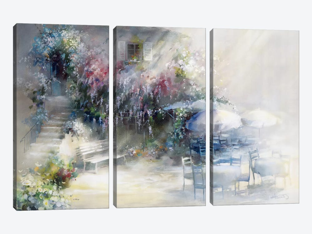 Blue Garden by Willem Haenraets 3-piece Canvas Artwork