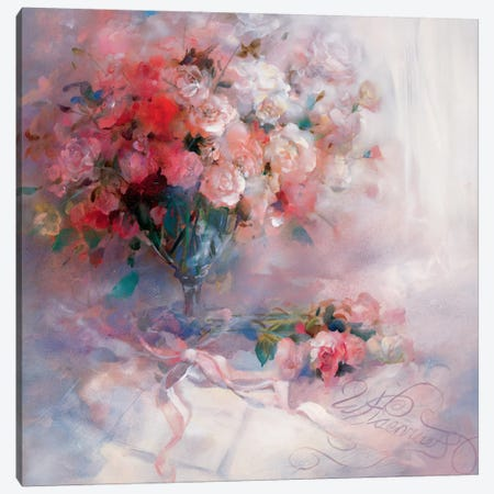 Bouquet Of Roses Canvas Print #HAE105} by Willem Haenraets Canvas Wall Art