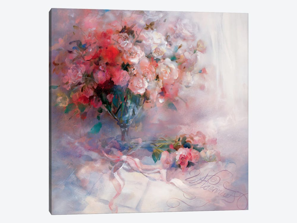 Bouquet Of Roses by Willem Haenraets 1-piece Canvas Print