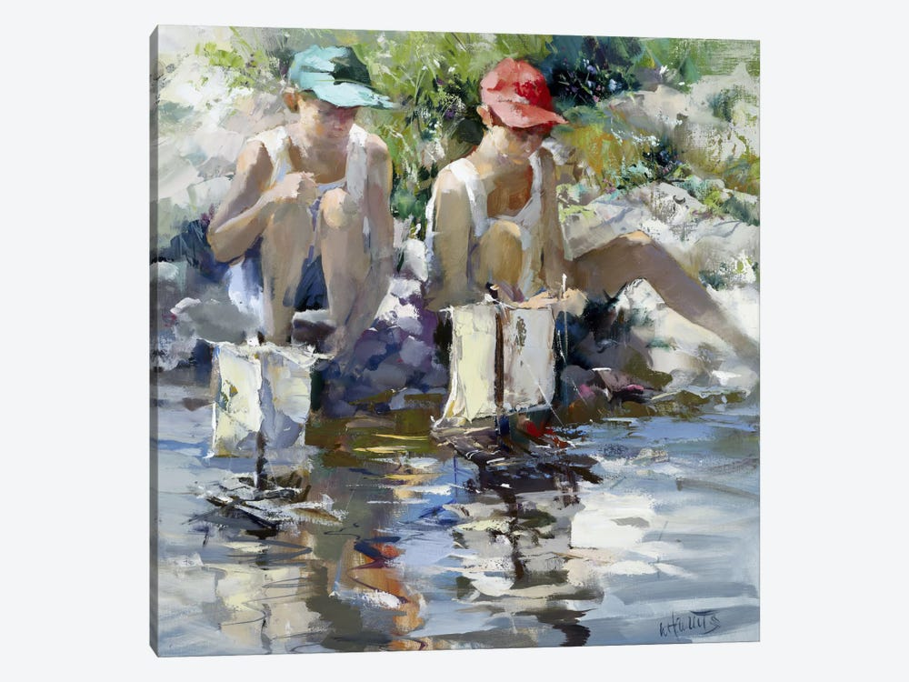Boys by Willem Haenraets 1-piece Canvas Art