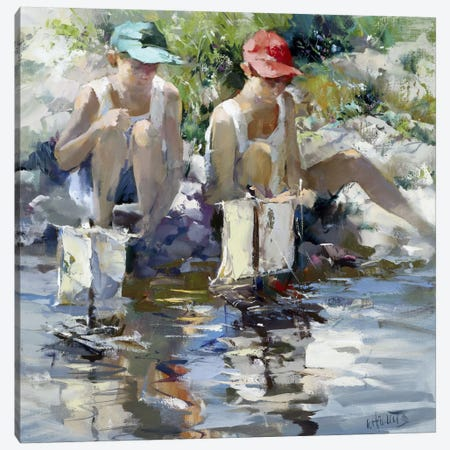 Boys Canvas Print #HAE106} by Willem Haenraets Canvas Wall Art