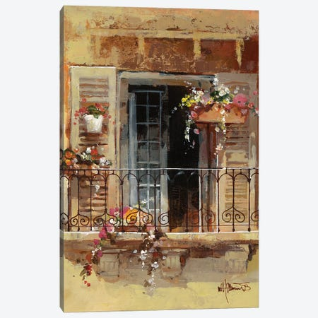 Balcony IV 3-Piece Canvas #HAE10} by Willem Haenraets Art Print