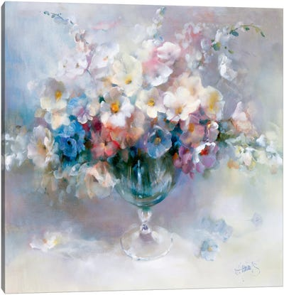Crystal Flowers Canvas Art Print