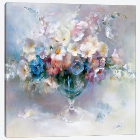 Crystal Flowers Canvas Print #HAE112} by Willem Haenraets Canvas Artwork
