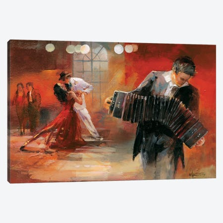 Bandoneon Canvas Print #HAE11} by Willem Haenraets Canvas Art Print