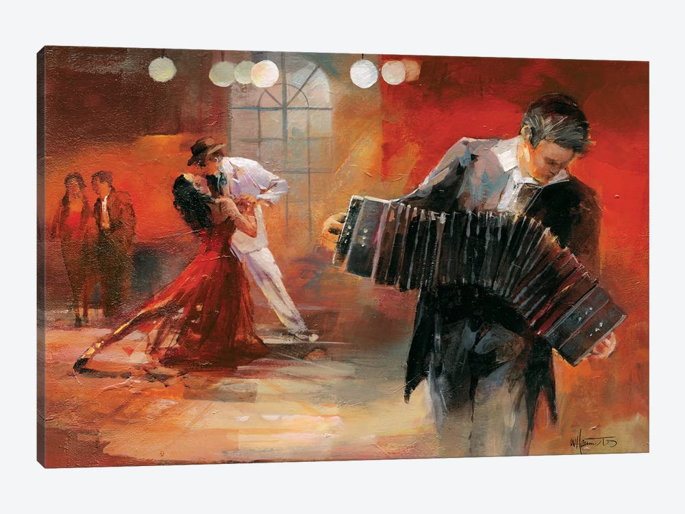 Bandoneon by Willem Haenraets 1-piece Canvas Art