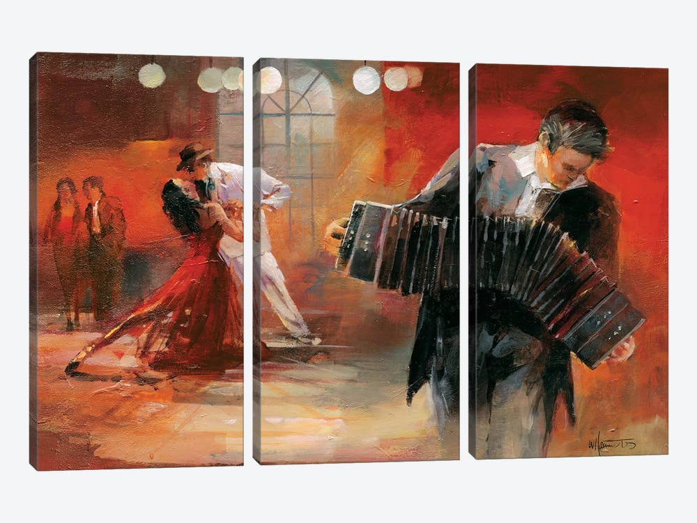 Bandoneon by Willem Haenraets 3-piece Canvas Art